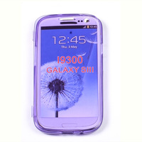 New For Summer Stylish Transprent Soft TPU Gel Case For Samsung Galaxy S3 i9300 Flip Back Cover 8 Color Blue Yellow Red Green