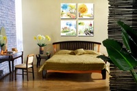 4pieces Decorative wall painting  Modern living room bedroom home decorative Oil Painting Painted canvas painting  Free Shipping