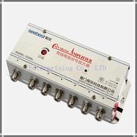 Free shipping, SB-1020K6, 6 way CATV signal amplifier, Cable TV Signal Amplifier Splitter Booster CATV, 20DB