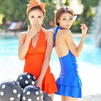 Swimwear female one-piece dress fashion slim hot spring swimsuit