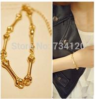 SB032 mix wholesale  2014 New Fashion Hot Selling Europe&America Jewelry Simple Personality Metallic Sense Bone Couple Bracelet