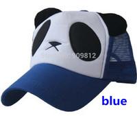 Free Shipping Plush panda truck cap Cartoon mesh hat Sun hats Snapbacks caps, hat circumference 55--59cm 6 color