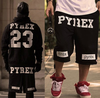 2014 new fashion street pyrex 23 shorts men hip hop skateboard pants swag plus size S-XXXXL XXXXXL