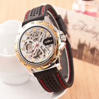 Seven colors New Famous Brand Winner Luxury Fashion Casual Stainless Steel Men Mechanical Watch Skeleton Watch Dress Wristwatch