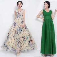 Butterfly flower slim waist 2014 belt solid color green one-piece dress