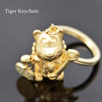 Free shipping fashion lovely tiger Keychain Key Chain Ring Key Fob creative