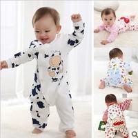 Free shipping Children pajamas baby rompers newborn long sleeve underwear cotton pajamas boys girls autumn rompers s599