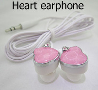 Free shipping dropshipping x3651pcs ocean heart diamond earphone for lady female headphone&headset with diamond pink blue white