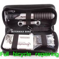 Free Shipping Road Mountain Bike Portable Frame Tube Repairing Tool Set Suite Kit+Glue+Pump+Wrench+Donate Bag