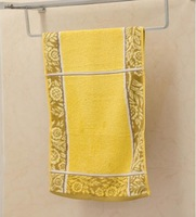 China No.1  High Quality 34cm*76cm All Matching Soft Embroidery Wide Stripe Hand Face Cotton Material Towel Yellow