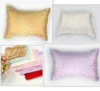 wholesale100% pure mulberry 16mm Jacquard Silk Pillowcase size 48*74cm good quality pillowcases