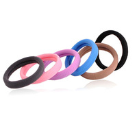120 Pcs/Lot,High Quality Multicolor Hair Elastic Band Cotton Seamless Headband Hair Ties Rope Ponytail Hair Accessories