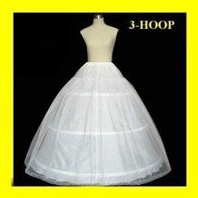 Envío de la venta del 50 % de descuento 3 vestidos de fiesta ARO HUESO COMPLETO crinolina FALDA DE BODA SLIP NUEVA H- 3(China (Mainland))