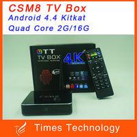 CSM8 Amlogic S802 Quad Core Andriod 4.4.2 TV Box 2.0GHz Mali-450MP GPU 2GB/16GB,wifi,XBMC,4K,CSM8 Android TV Box