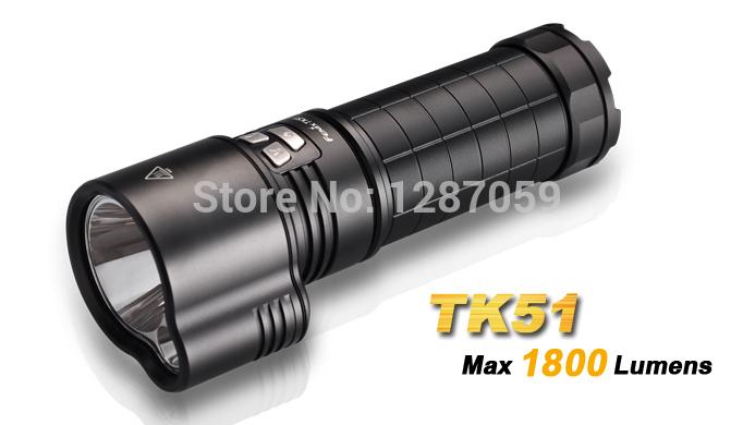 Fenix TK51 1800 lumen Cree XM-L2(U2) LED waterproof portable Flashlight spotlight floodlight can use 3 18650 batteries(China (Mainland))