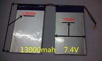 7.4V 13000mAh Tablets Batteries DIY Cube U30GT, U30GT1, U30GT2 dual four-core tablet pc battery 33161125 Size:3.5 * 151 * 128mm