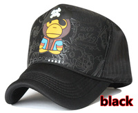 Free Shipping Monkey MILO truck cap Mesh hat Hipster hats Snapbacks caps, hat circumference 56--59cm 2 color