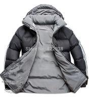 Have LOGO!!2014 Fashion Hot sale Newest Design Men Double Side Down Jacket Men's Winter Overcoat Outdoor Clothes jaqueta