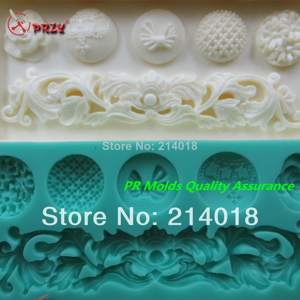 A variety of style buttons modelling silicon fondant Cake decoration mold lace fondant mold chocolate mold NO.:Si309(China (Mainland))