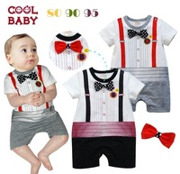 Newest gentlema cotton Baby jumpsuit clothes,can choose color,China post Free shipping 13310