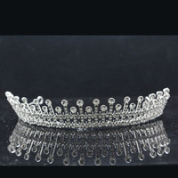 High Quality Rhodium Plated Promotion Fashion Clear Crystal Bridal Crown