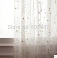 American rustic three-dimensional embroidery squid white window screening