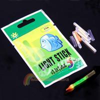 R1B1 50Pcs 3*25mm Fluorescent Chemical Glow Sticks Green Lightstick for Fishing