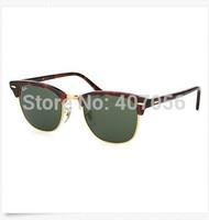 Free Shipping New Fashion clubmaster sunglasses men sunglasses women frame vintage sunglasses with box