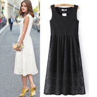 2014 Summer New Arrival Hot Selling High Quality Fashion Princess Dress/High Waist Slim Fit Lace Dress For Women