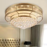 Fashion copper ceiling living room lights led crystal lamp gt088