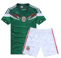 2014 World Cup Soccer Jersey New Mexico home green short-sleeved soccer clothes soccer clothes suit