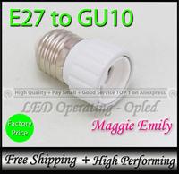10pcs 9.98USD per lot free shipping - E27 to GU10 holder converter for GU10 led bulb light lamp