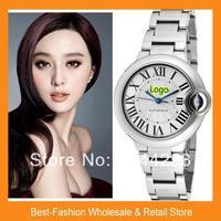 ePacket Free Shipping 2014 Luxury CRT Brand Women Men W6920071 BALLON BLEU Watch Rose Gold Wristwatch Quartz 38mm+Drop Shipping