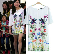 2014 Summer New Arrival England Style Top Quality Screen Printing One piece Dress/Women Summer Dress Party Dress