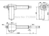 DC24V 4000N,8mm/s unload speed,200mm stroke linear actuator