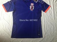 2014 world cup JAPAN home jerseys fan versions emboridered #10 KAGAWA, #4 HONDA