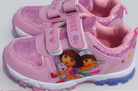 2014 fashion dora sneakers shoes for kids dora boots children sports shoes free shipping