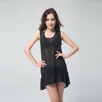 free shipping, pajamas sleepwear, jumpsuit,nighties, sexy pajamas,beach wear,black 2size ,X/M,moq is 1pc