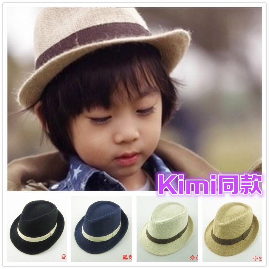 Kimi fedoras child baby hat child Male Female Child Jazz hat Sun hat Bonnet Bucket hat Fashion Free Shipping(China (Mainland))