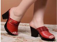Summer fashion casual comfortable thick heel sandals slippers female european version of the platform women's platform genuine