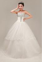 2014 latest wedding dress tutu waist Bra straps Qi Korean version of the bride