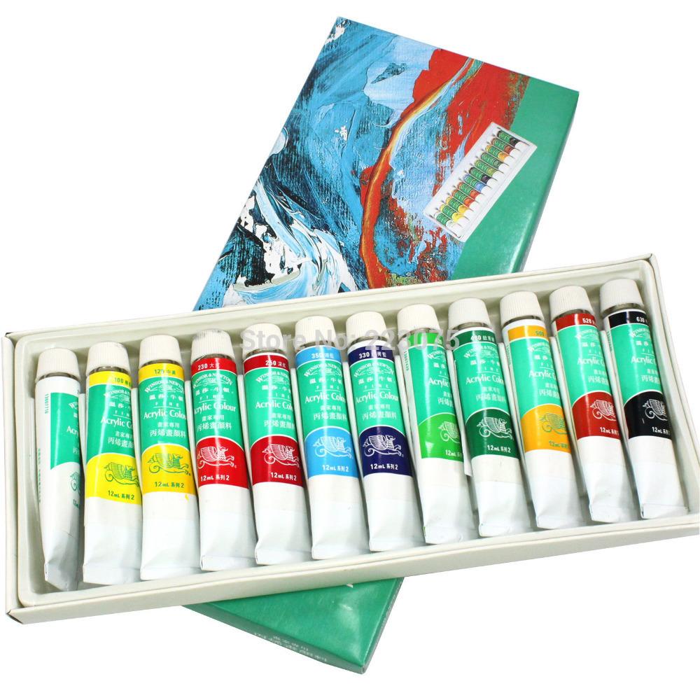 envío gratis 12 color 3d pintura acrílica tubo de conjunto del arte del clavo uv falsas consejos de diseño de dibujo herramienta gel uv 12ml nuevo