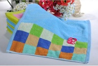 China No.1 Fashion High Quality 34cm*34cm All Matching Soft Embroidery Flower Printed Hand Face Cotton Material Towel Green/Blue