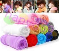 100pcs free ship lady dress wrinkle scarf scarves all match shawl candy color transparent elegant silk scarf