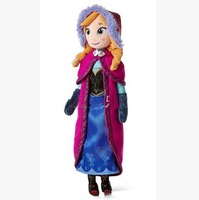 Free shipping frozen doll Anna Plush Toys 2014 New 50cm 4 pcs/lot Princess Elsa Anna Plush Doll Brinquedos Kids Dolls for Girls