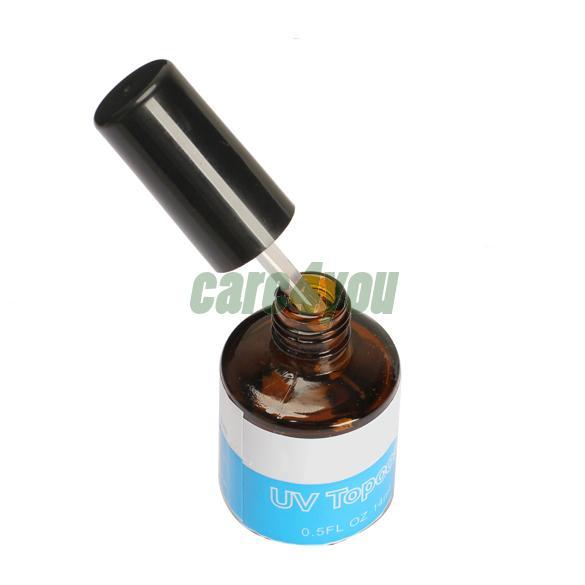 14ML UV Topcoat Top Coat Seal Glue Acrylic Nail Art Gel Polish Gloss E#CH(China (Mainland))