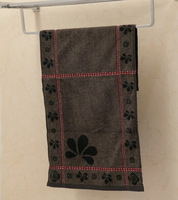 China No.1 Arrival High Quality 34cm*74cm Long Extrasoft Strong absorbent Printed Hand Face Home Cotton Towel Brown/Light Brown