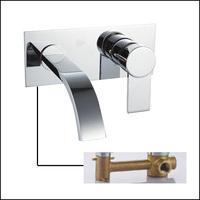 Brass Sink Wall Bathroom Faucet Handles For Bathroom Basin Mixer Water Tap torneira para pia banheiro torneira lavabo de parede
