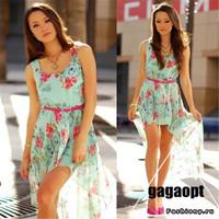 new arrival Russian print flower  one-piece dress