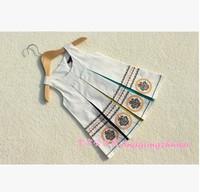 A fashion CATIMINI cotton summer dress Dress child's clothes original single girls dress children